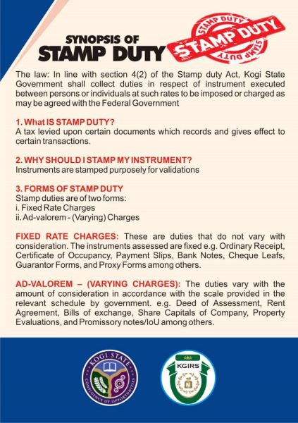 SYNOPSIS OF STAMP DUTY