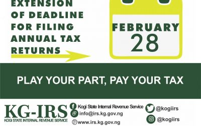 EXTENSION OF DEADLINE FOR FILING ANNUAL TAX RETURNS